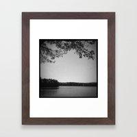 On the bank of Walden Pond Framed Art Print