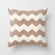 Chevron - Natural Throw Pillow