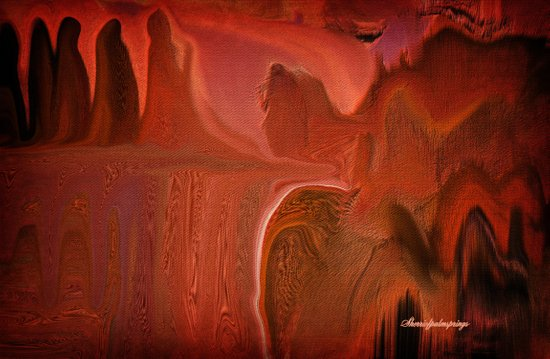 VALLEY OF TRUTH....ABSTRACT Art Print