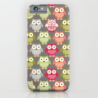 iPhone & iPod Case featuring Forest Friends Owls by shiny orange dreams