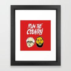 Run The Country Framed Art Print