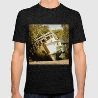 Boat in need of repair Mens Fitted Tee Tri-Black SMALL