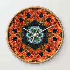 Fiery barnacles kaleidoscope 2 Wall Clock