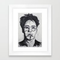 Robert Downey Jr. Framed Art Print