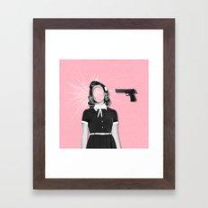 Bang bang. Framed Art Print