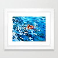 Still Swimmin' Framed Art Print