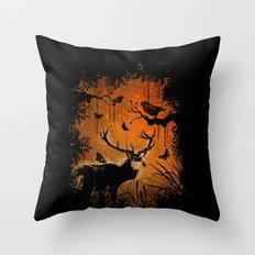 Lost Deer Throw Pillow