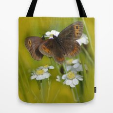 Summery Butterflies on Gold Tote Bag