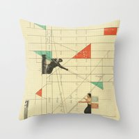 Throw Pillow featuring Pull the Strings by Fitacola