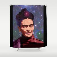Cosmic Frida Shower Curtain