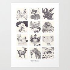FACE B Art Print
