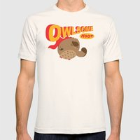 Owlsome Guardian Mens Fitted Tee Natural SMALL