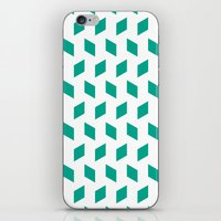 Rhombus Bomb In Emerald iPhone & iPod Skin