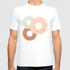 Donuts for breakfast! SMALL Mens Fitted Tee White