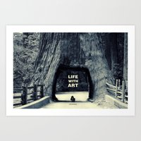 Life WITH Art & Life Wit… Art Print