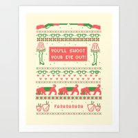 A Christmas Sweater Art Print