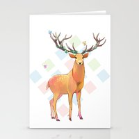 Deer and Diamonds Stationery Cards