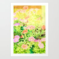 Sunny Flowers Art Print