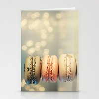 neapolitan macarons Stationery Cards