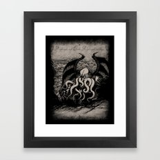 The Rise Of Great Cthulh… Framed Art Print