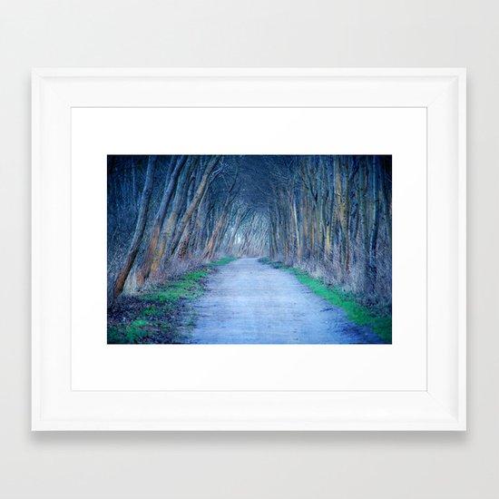 the blue way Framed Art Print