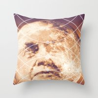 Man in the Moon Phases Throw Pillow