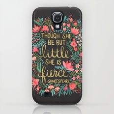 Little & Fierce On Charc… Galaxy S4 Slim Case