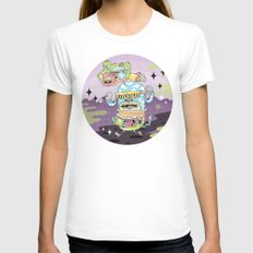 Rad Story Womens Fitted Tee White SMALL