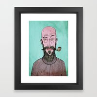 The Hipster Framed Art Print