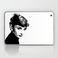 Audrey Hepburn Black and white Laptop & iPad Skin