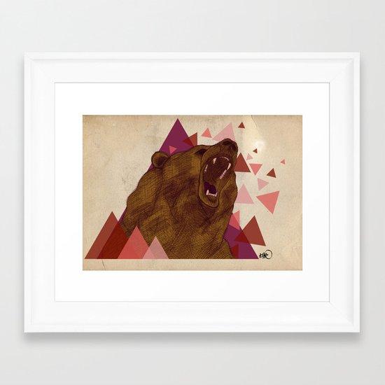shattered instinct Framed Art Print