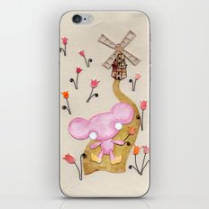 A Mouse With Clogs On, By A Windmill iPhone & iPod Skin