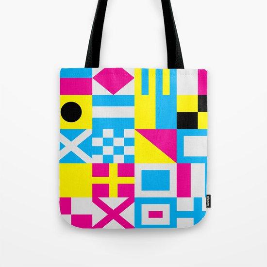 Nautical Alphabet CMYK Tote Bag