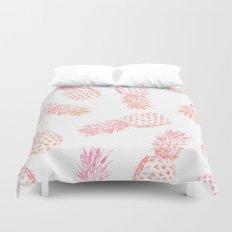 Pink Pineapples Duvet Cover