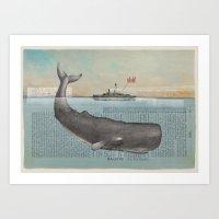 La Baleine (the Whale) Art Print