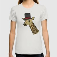 Like A Siraffe Womens Fitted Tee Silver SMALL