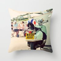 Vintage Vespa ♥ Throw Pillow