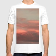 Clouds White Mens Fitted Tee SMALL