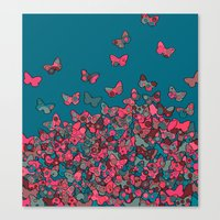 Flutterflies Canvas Print