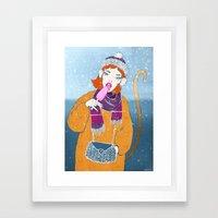 Ice Monkey Framed Art Print