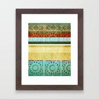 Textile - Green Framed Art Print