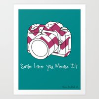 Smile Like You Mean It- 8 x 10 Art Print  Art Print