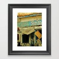 Seafood Shack Framed Art Print