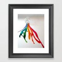 Rainbow Spill Framed Art Print