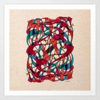 dance Art Prints featuring - dance - by Magdalla Del Fresto