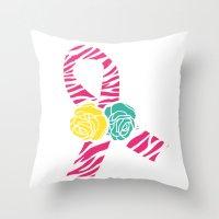 Endometriosis Ribbon 4 Throw Pillow