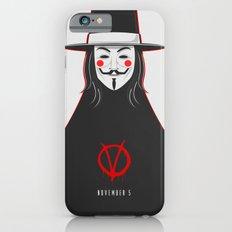 V for vendetta November 5 Minimal Poster iPhone 6s Slim Case