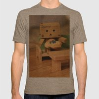 Couch Potato Mens Fitted Tee Tri-Coffee SMALL