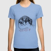 love rat Womens Fitted Tee Athletic Blue SMALL