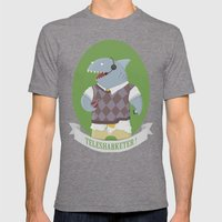 Telesharketer! Mens Fitted Tee Tri-Grey SMALL